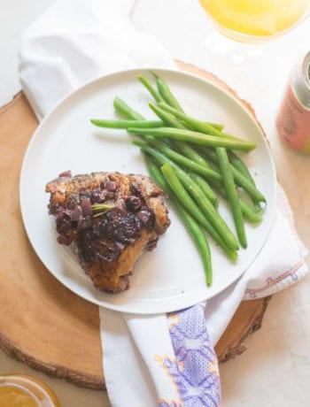 Blueberry Berliner Chicken Skillet Dinner | Sarcastic Cooking