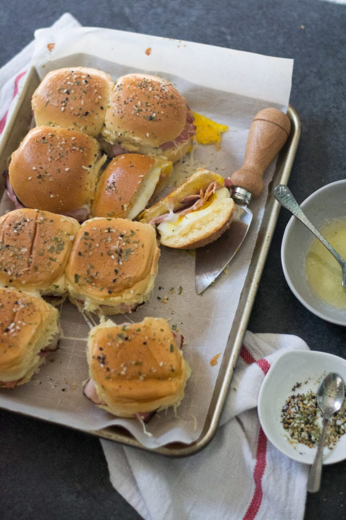 Inside Out Croque Madame Sliders | Sarcastic Cooking #croquemadame #slider