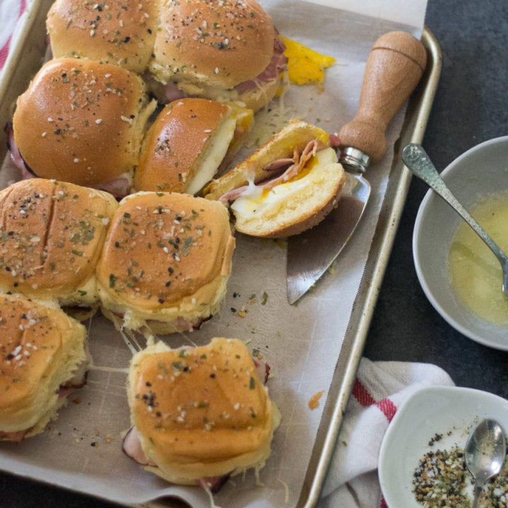 Inside Out Croque Madame Sliders