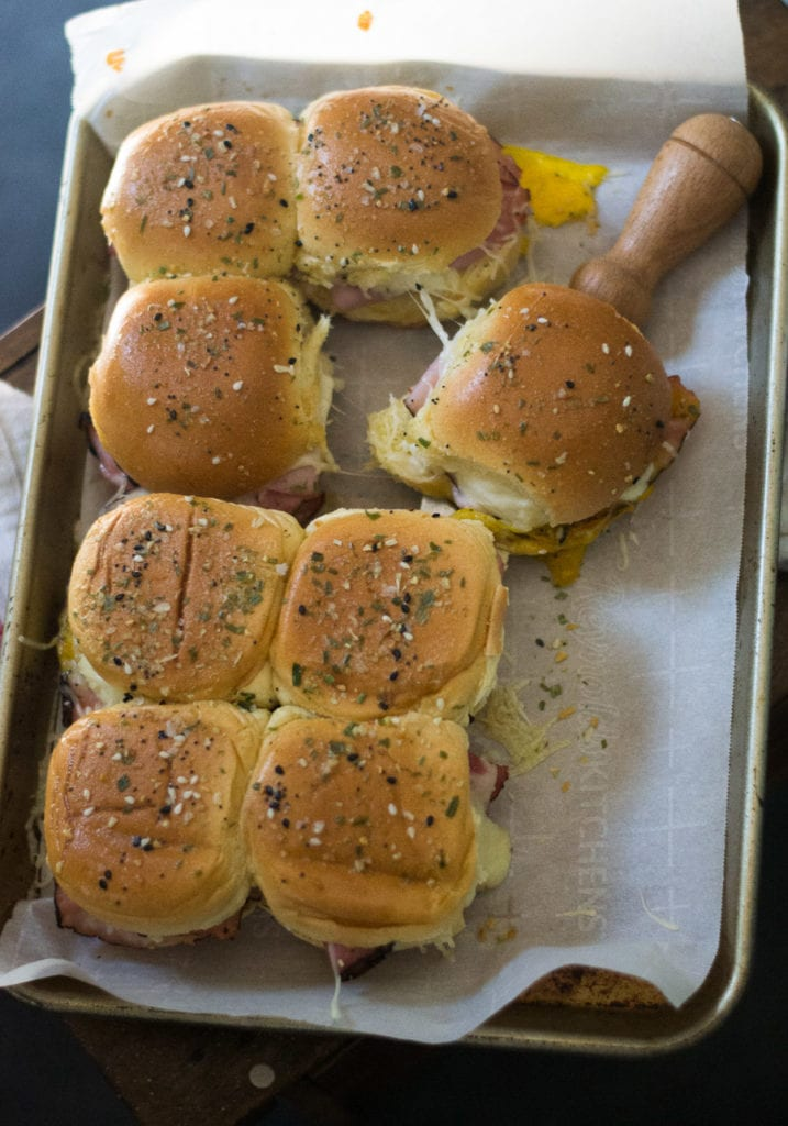 Croque Madame Sliders - ham, jammy eggs, and cheese sauce | Sarcastic Cooking