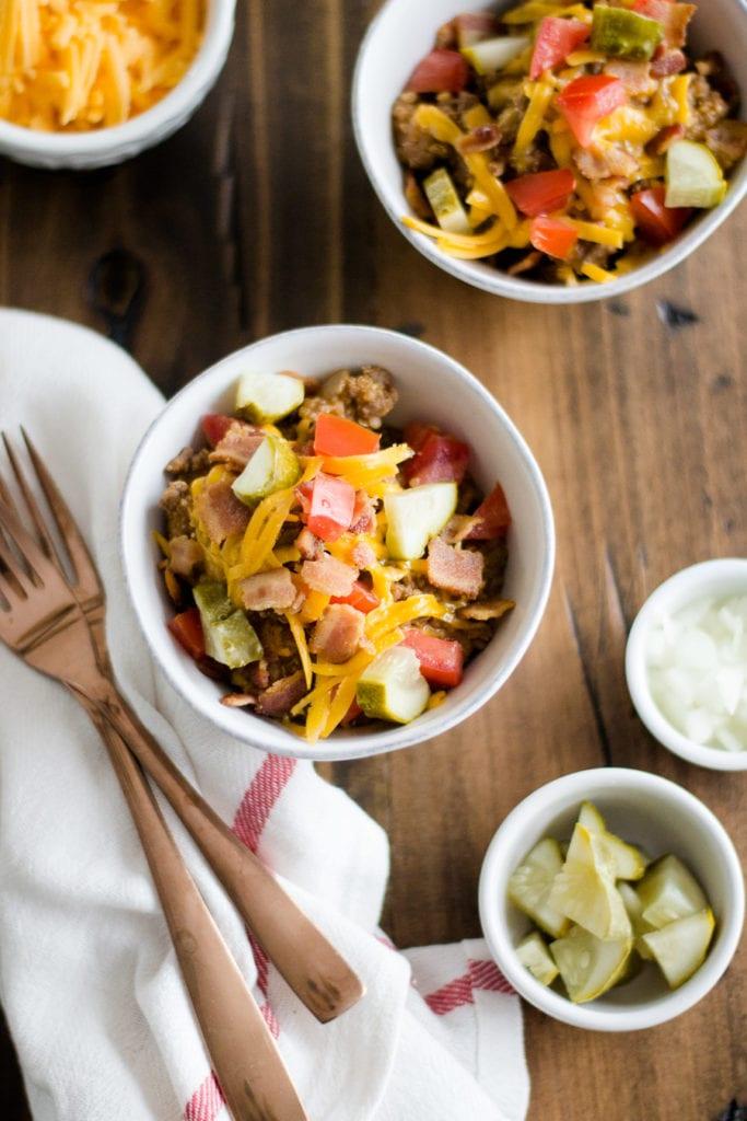 Loaded Cheeseburger Quinoa - Instant Pot - Pressure Cooker | Sarcastic Cooking