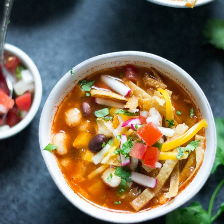Slow Cooker Vegetarian Tortilla Soup | Sarcastic Cooking