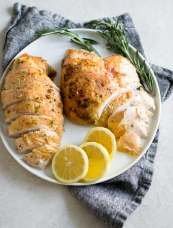 Instant Pot Lemon Rosemary Turkey Breast | Sarcastic Cooking