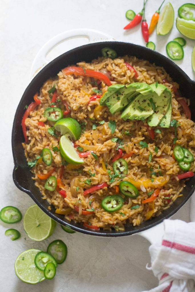 One Skillet Vegetarian Mexican Rice | sarcastic Cooking