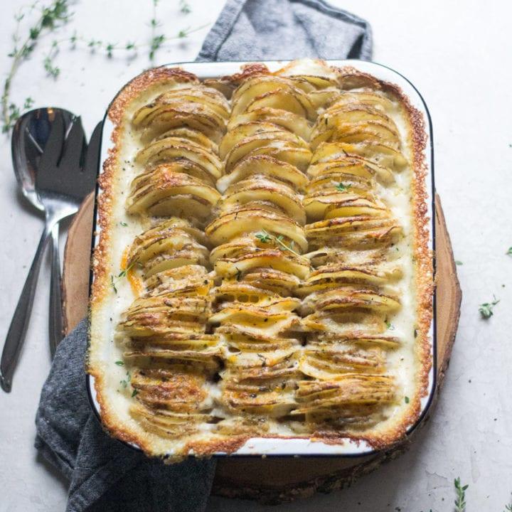 Easy Fancy Scalloped Potatoes