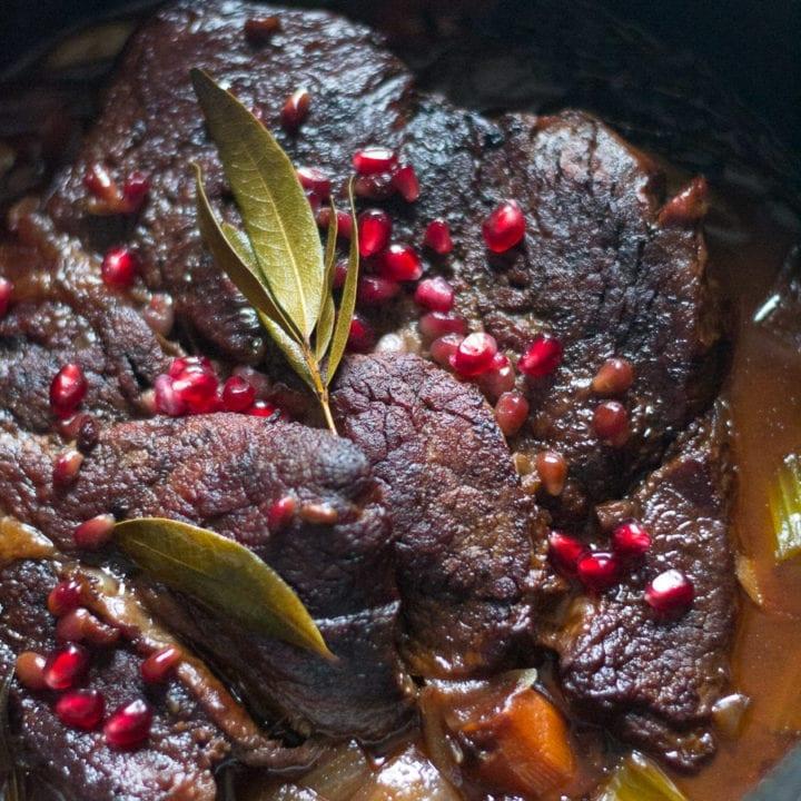 Balsamic Pomegranate Pot Roast