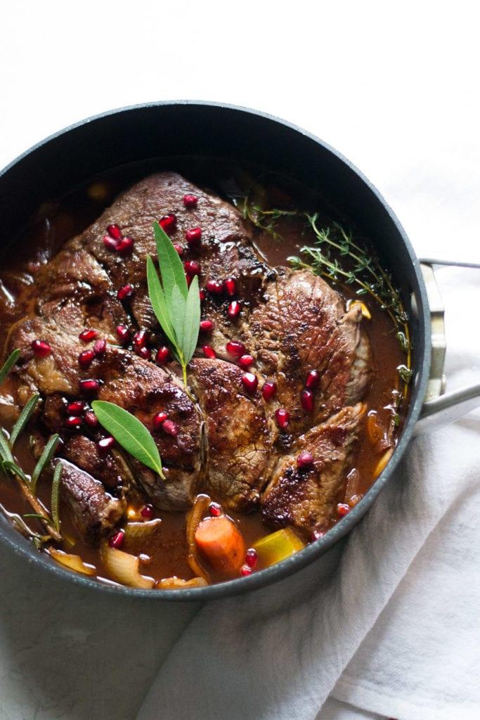 Balsamic Pomegranate Pot Roast | Sarcastic Cooking