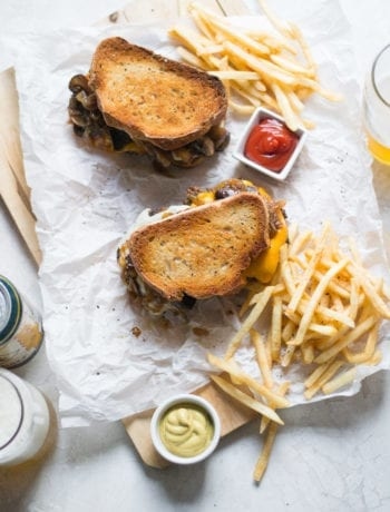 Patty Melt with Pilsner Caramelized Onions and Mushrooms | Sarcastic Cooking