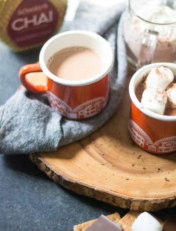 Spiked Hazelnut Chai Hot Chocolate | Sarcastic Cooking