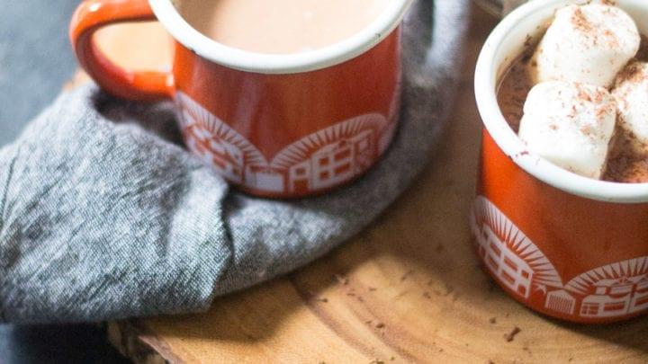 Spiked Hazelnut Chai Hot Chocolate