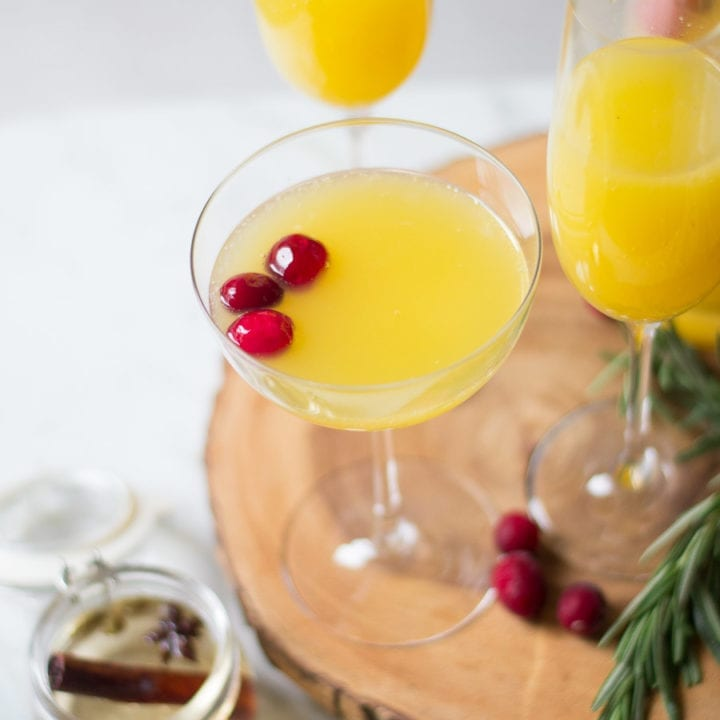 Spiced Cinnamon Orange Mimosas