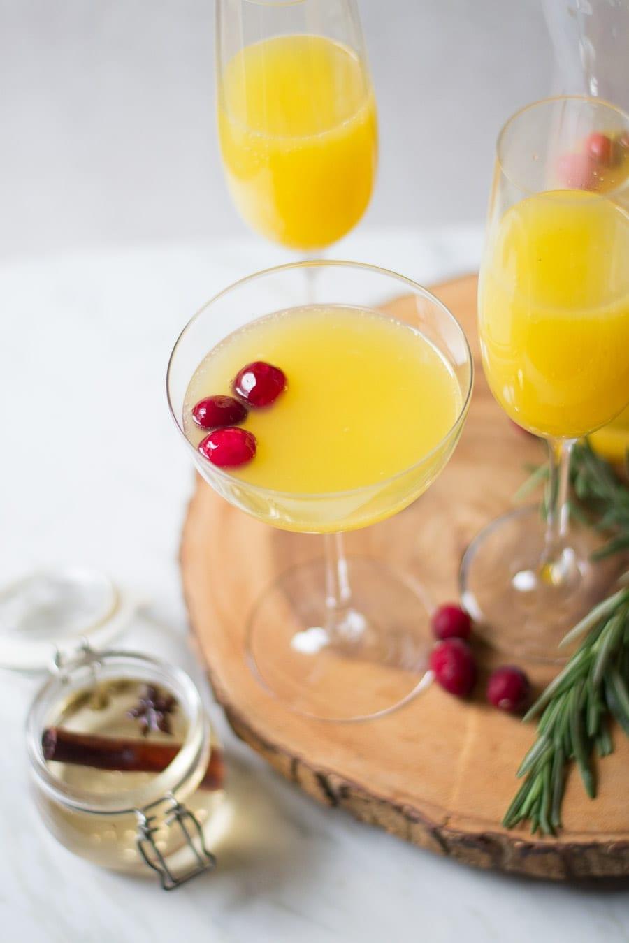 Spiced Cinnamon orange Mimosas | sarcastic Cooking
