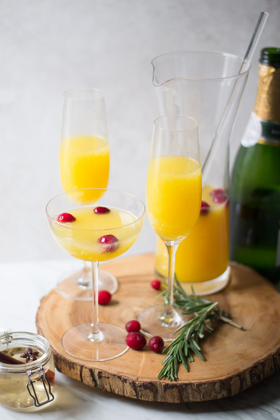 Spiced Orange Mimosas | Sarcastic Cooking
