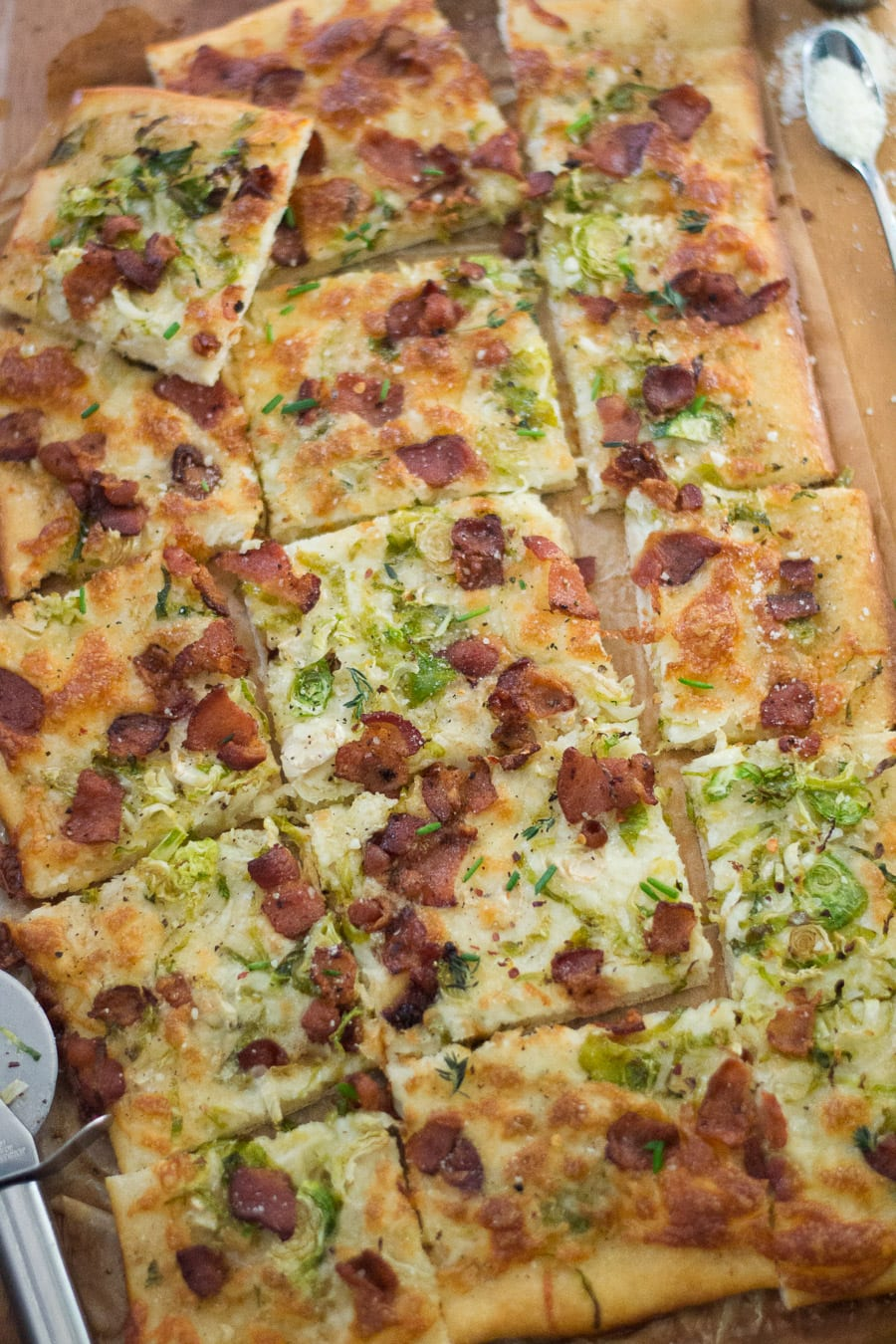Bacon, Brussels Sprout Pizza