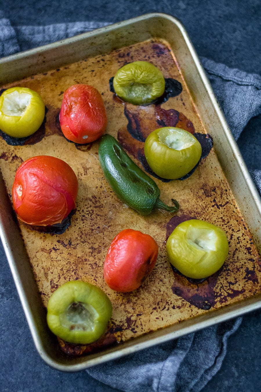 Rasted Tomato and Tomatillos | sarcastic Cooking