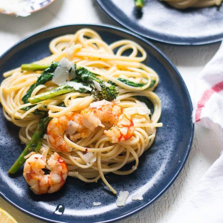Spicy Shrimp and Broccolini Pasta