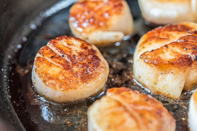Seared Scallops - How to cook scallops perfectly with a golden brown crust