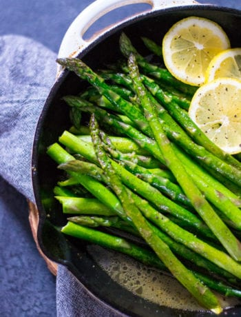 Easy Skillet Brown Butter Lemon Asparagus