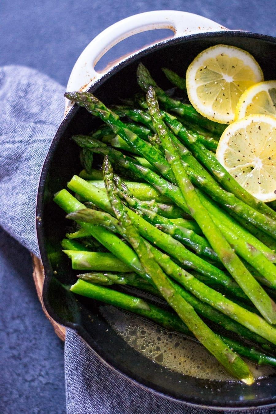 Easy Skillet Brown Butter Lemon Asparagus