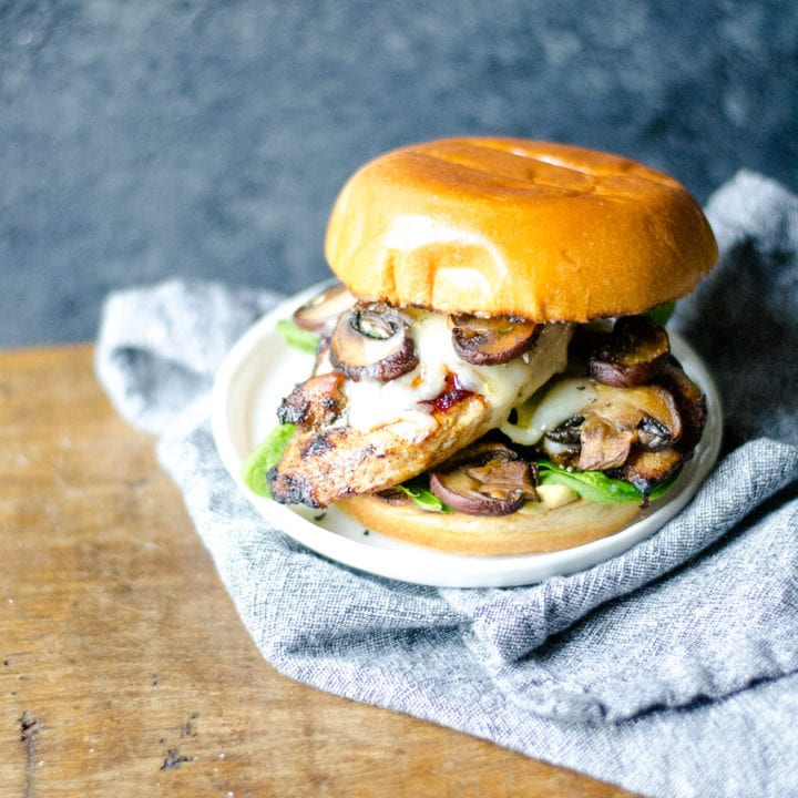 Spiced Grilled Chicken Sandwiches With Mushrooms And Swiss Sarcastic Cooking