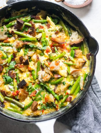 One Pan Spanish Asparagus Revuelto | Sarcastic Cooking
