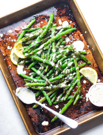 Blistered Green Beans with Tahini Sauce | Sarcastic Cooking