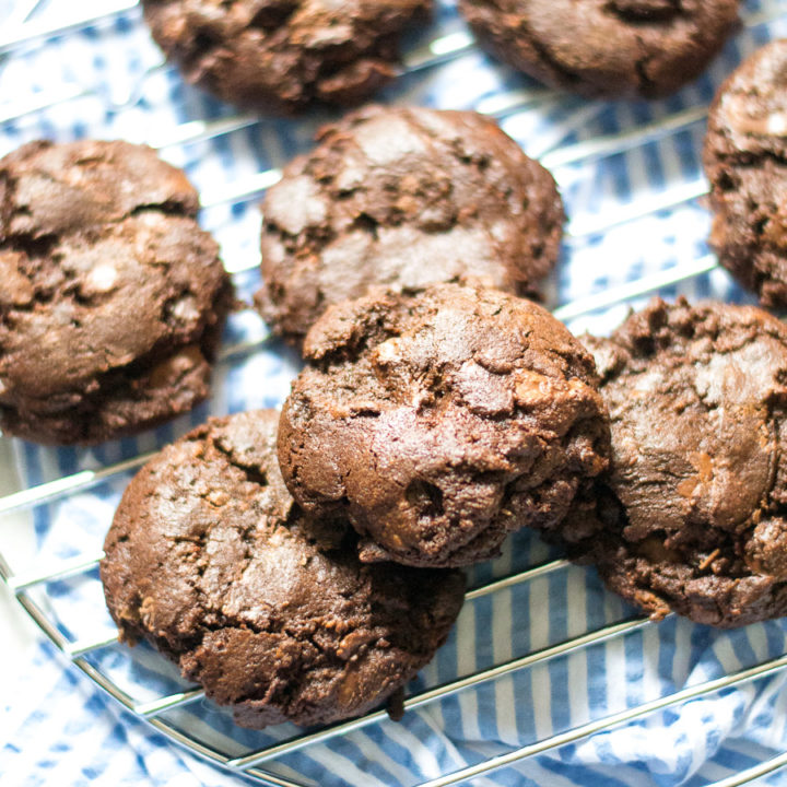 Double Chocolate Chocolate Chip Cookies