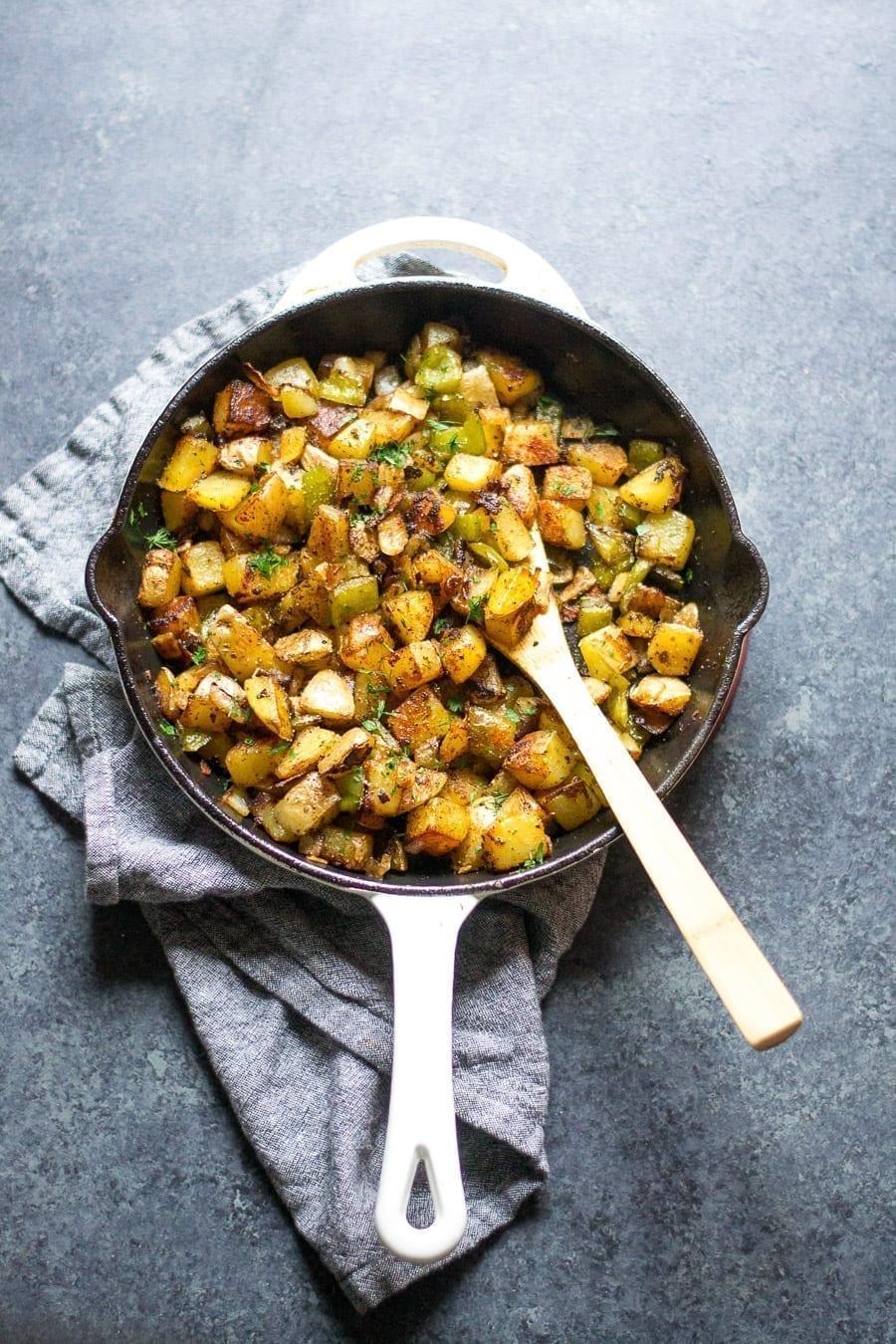 Classic Skillet Breakfast Potatoes | sarcastic Cooking