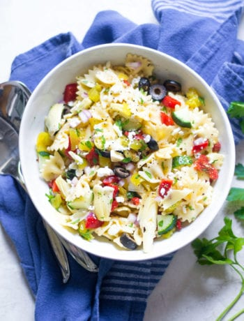 Greek Pasta Salad | Sarcastic Cooking