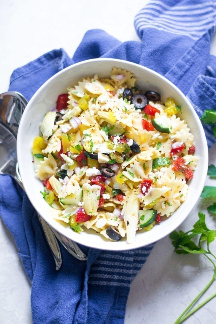 Greek Pasta Salad | Sarcastic Cooking