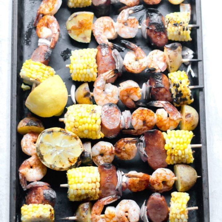 Grilled Shrimp Boil Skewers