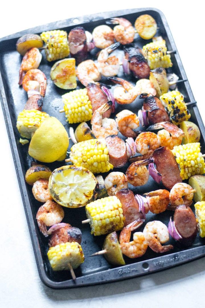shrimp boil skewers | sarcastic cooking