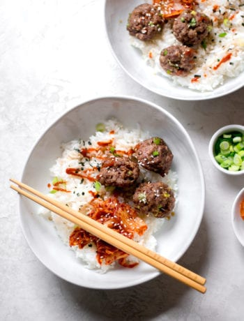 Korean BBQ Inspired Meatballs and Rice Bowl | Sarcastic Cooking