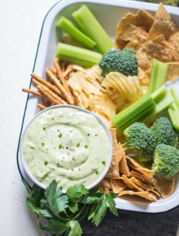 Fresh & Easy Avocado Ranch Dip | Sarcastic Cooking