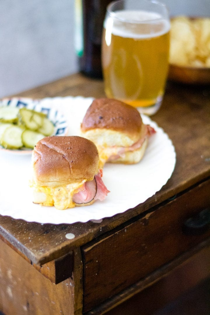 Ham and Green Chili Pimento Cheese Sliders | Sarcastic Cooking