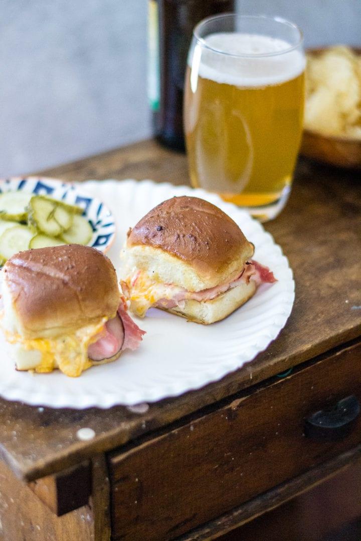 Cheesy Ham and Green CHili Sliders | sarcastic Cooking