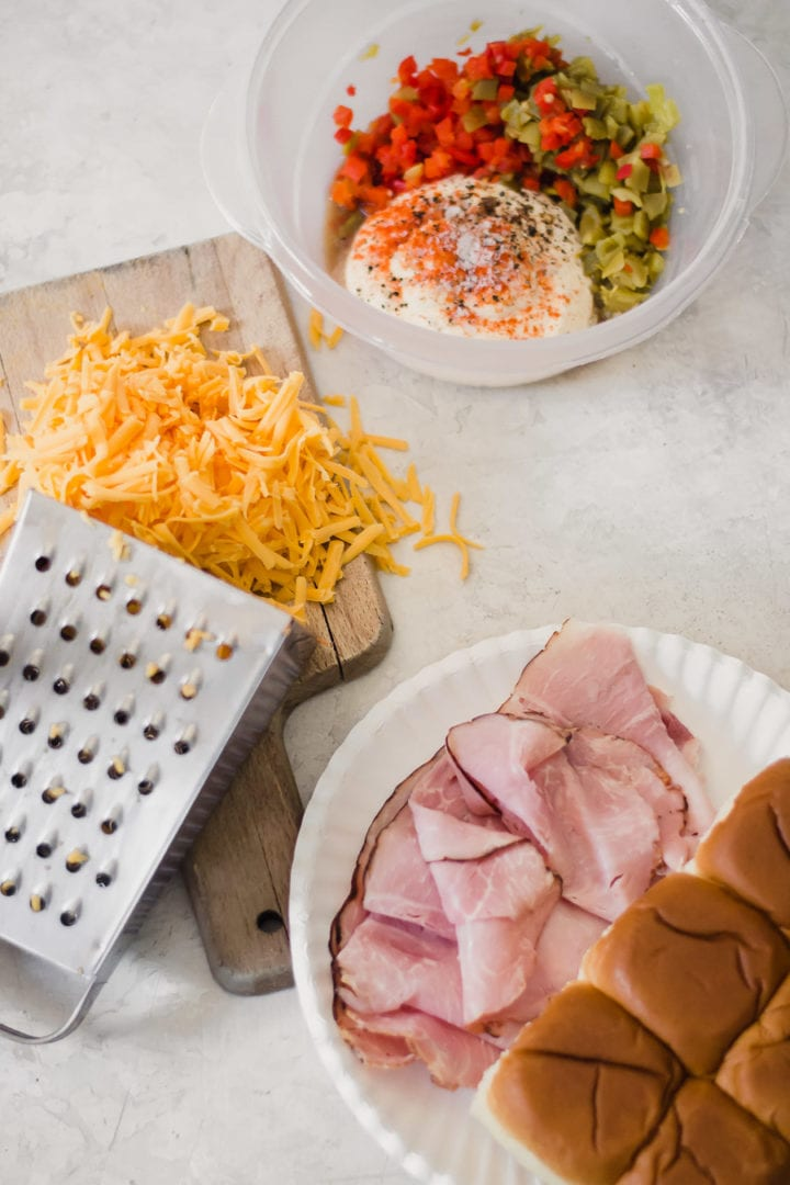 ham and pimento cheese slider ingredients | sarcastic cooking