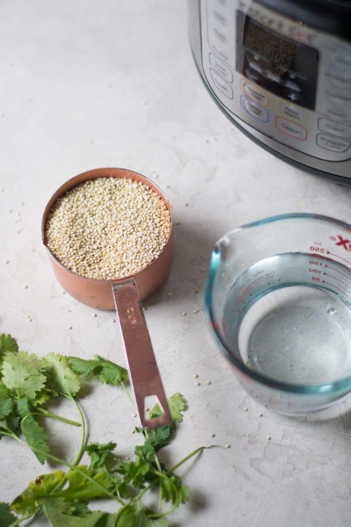 Cilantro Lime Quinoa in the Instant Pot | Sarcastic Cooking