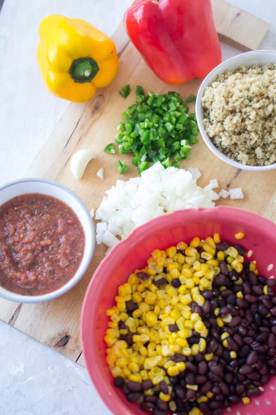 Mexican Style Stuffed Pepper Ingredients | Sarcastic Cooking