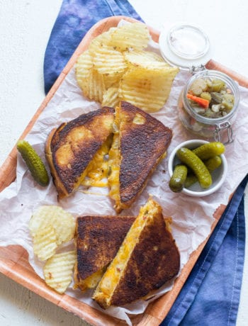 Hot Giardiniera Grilled Cheese   Sarcastic Cooking