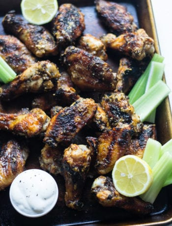 Grilled Lemon Pepper Garlic Parm Wings | Sarcastic Cooking