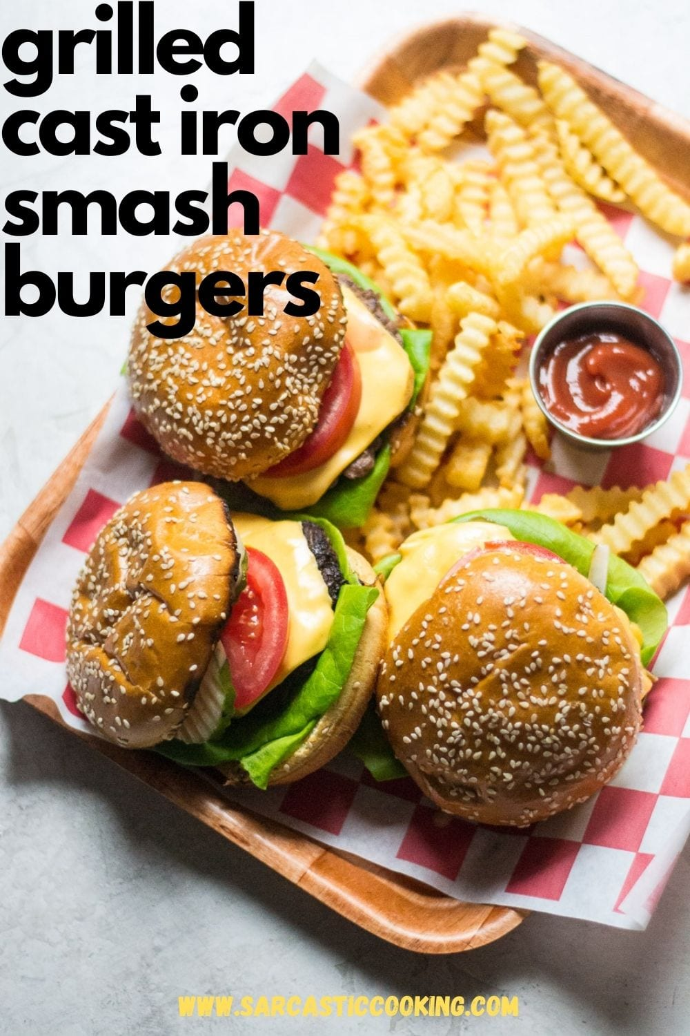 Smash Burgers Cooked on the Grill in a Cast Iron Skillet | Sarcastic Cooking