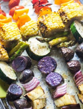 Grilled Rainbow Veggie Skewers | Sarcastic Cooking