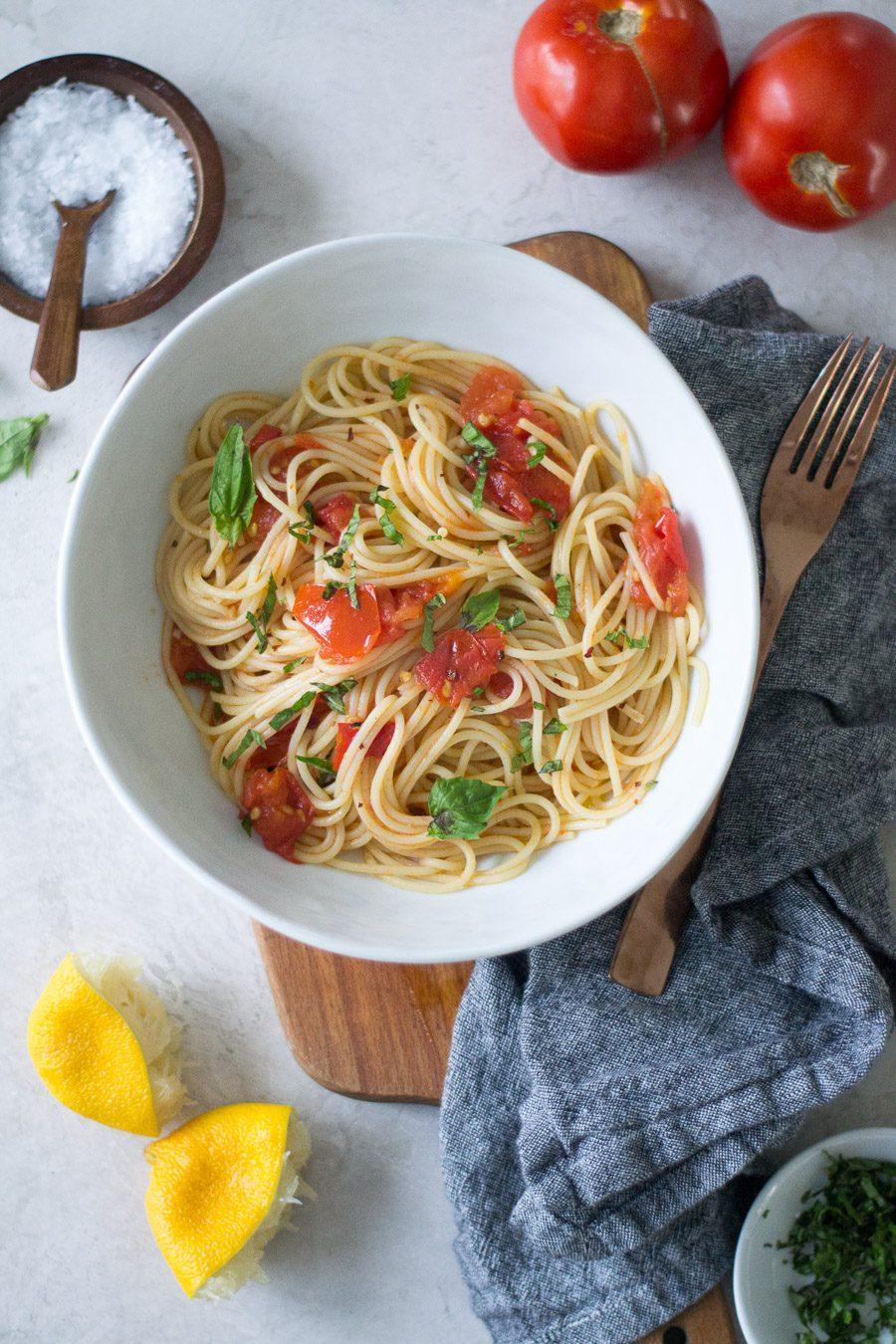 Lemon and Tomato Pasta | Sarcastic Cooking