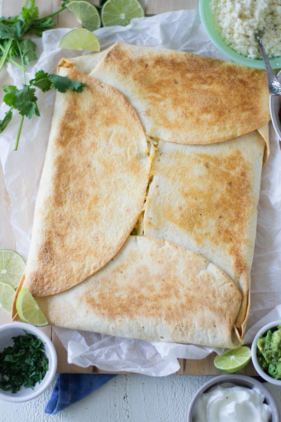 Baked Sheet pan Quesadilla | sarcastic Cooking