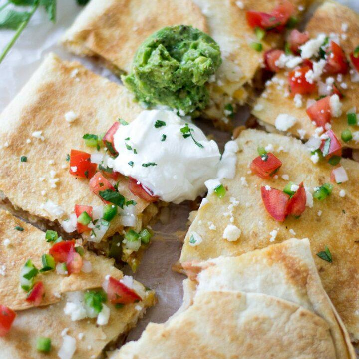 Chicken and Bean Sheet Pan Quesadillas | Sarcastic Cooking
