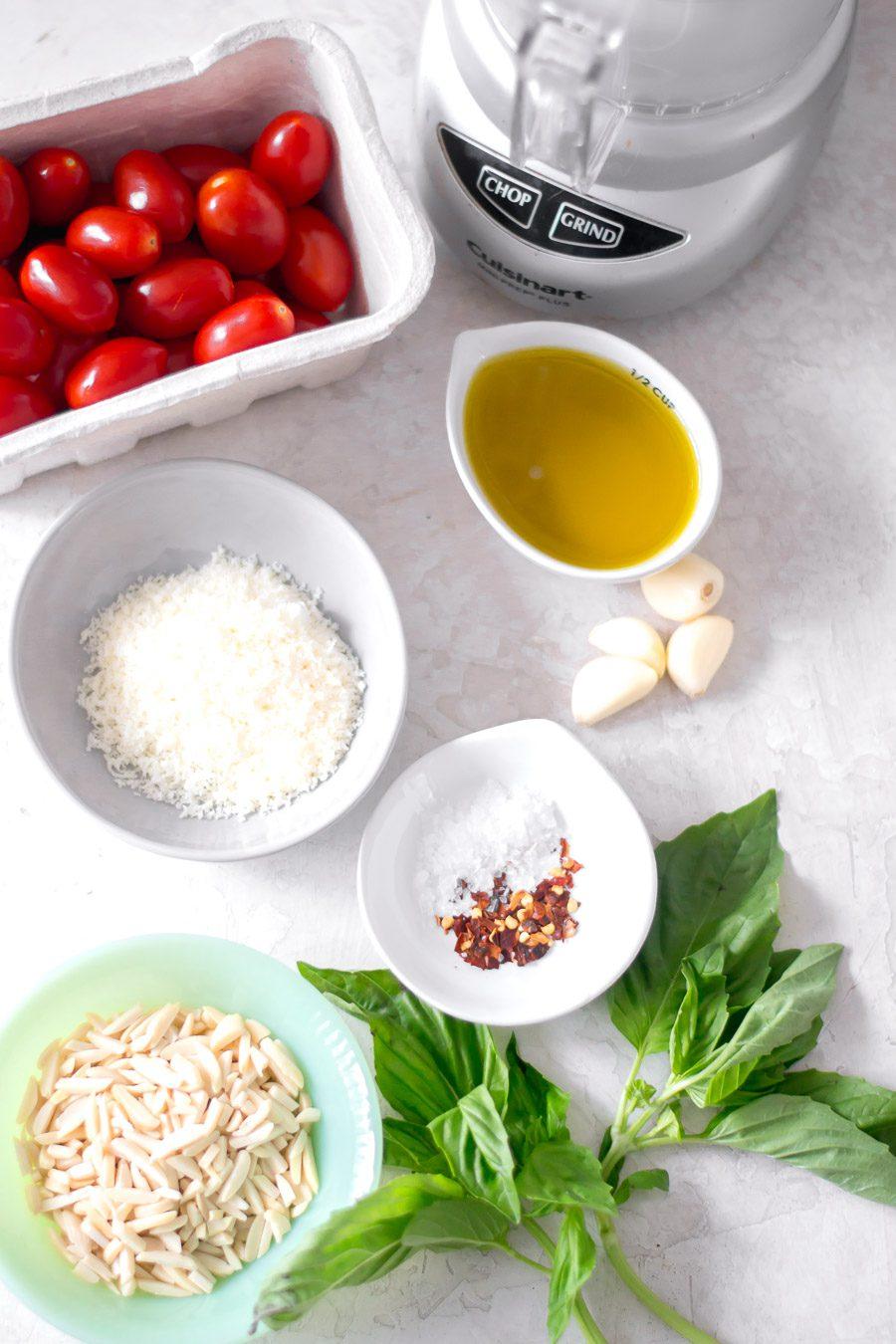 Pesto alla Trapanese Ingredients | Sarcastic Cooking